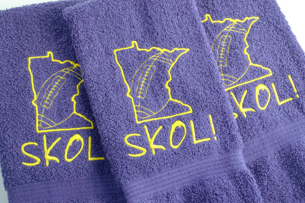 READY TO SHIP - Minnesota Football Themed Towel - 3 towel options