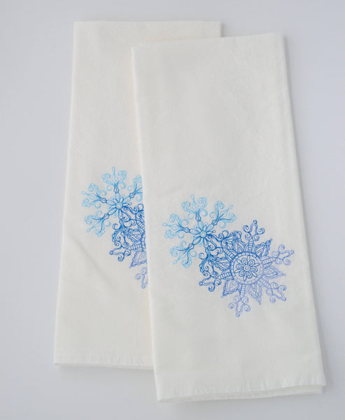 Lace Snowflake Tea Towel