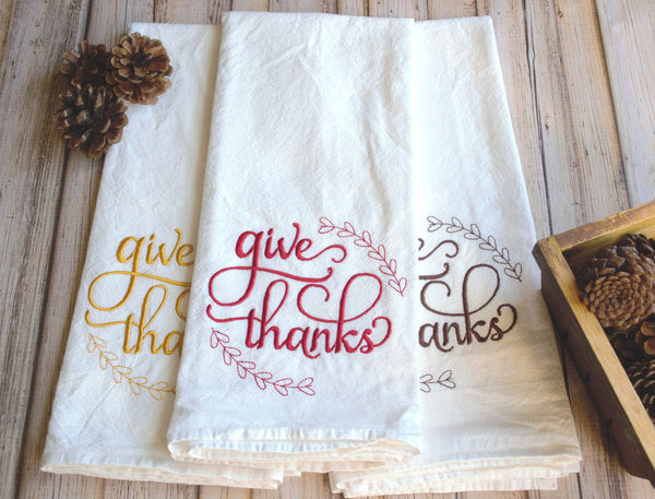 Give Thanks Tea Towel
