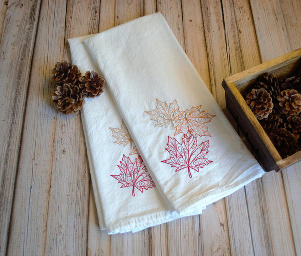 Lace Leaves Tea Towel