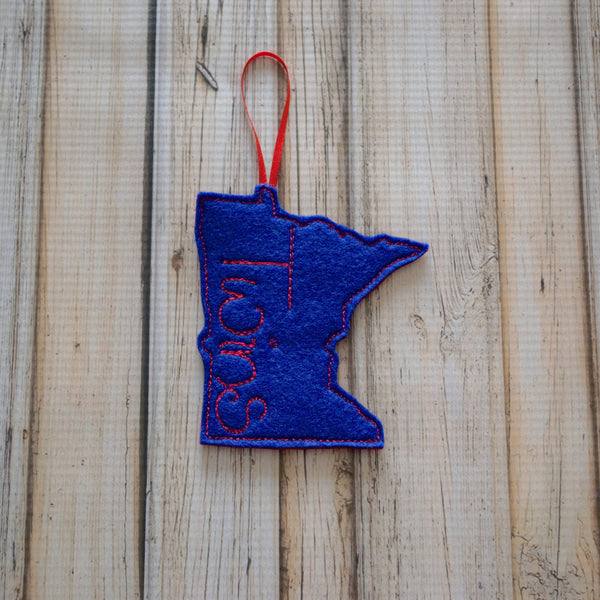 Minnesota Baseball Themed Felt Ornament