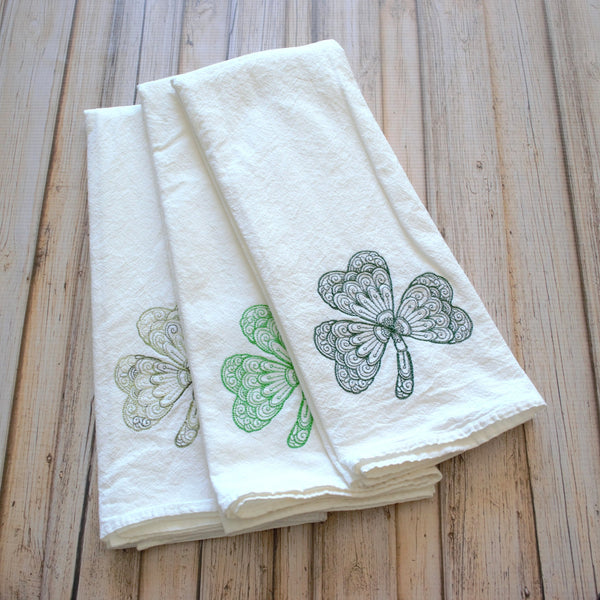 Lace Shamrock Tea Towel
