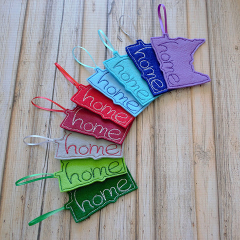 State Felt Ornament - All 50 States Available