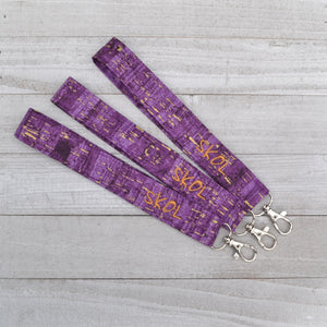 READY TO SHIP - SKOL Lanyard - Wrist or Neck Lanyard - Purple and Gold