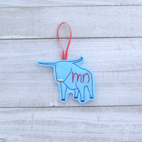 READY TO SHIP - MN Blue Ox Felt Ornament