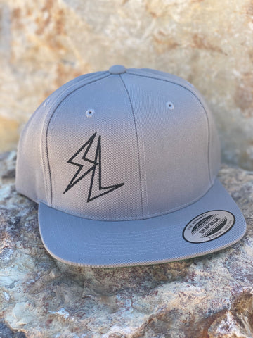 """Bolt"" Grey Snap-Back Hat"