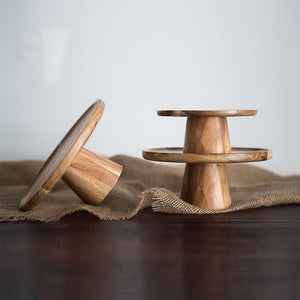 Augustus Natural Wood Plate Stand