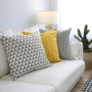 Euclid Geometric Cushion Covers