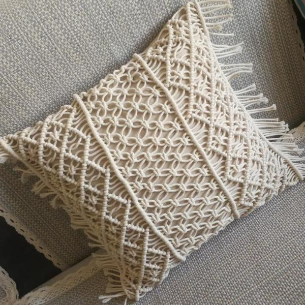 Boho Macrame Cushion Cover