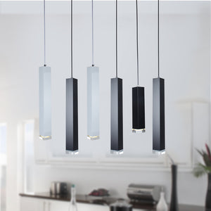 Quad Column Drop Light, Black & White