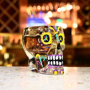 Calavera Crystal Skull Shot Glass