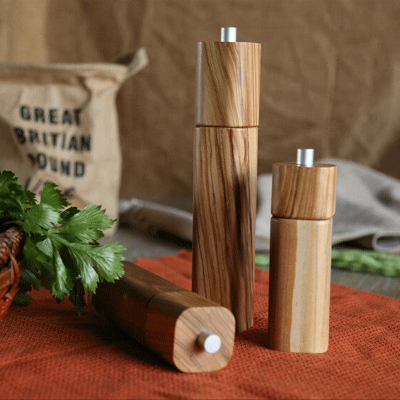 GROVE Olive Wood Salt & Pepper Mill Set