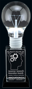 Pioneer Light Bulb Crystal Award