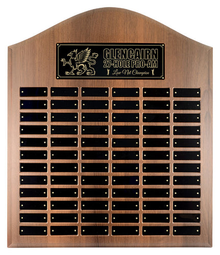 Cathedral Walnut Finish Annual Plaque