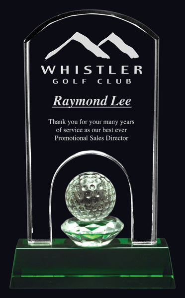 Emerald Hills Crystal Golf Award