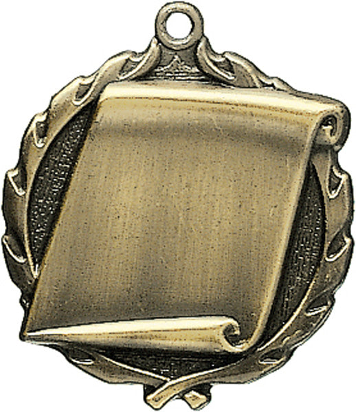 Sculptured Scroll Medal with Neck Ribbon