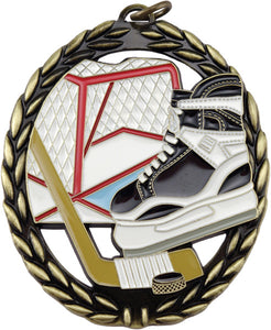 "Hockey Negative Space 2.75"" Medal with Neck Ribbon"