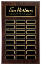 Load image into Gallery viewer, Grooved Walnut Finish Annual Plaque