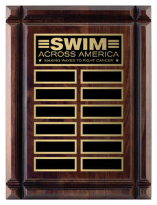 Walnut Deep Groove Annual Plaque