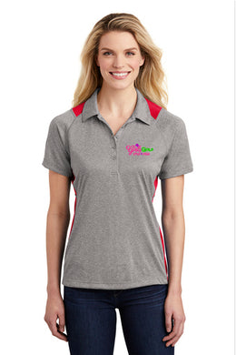 LST665 Sport-Tek® Ladies Heather Colorblock Contender™ Polo