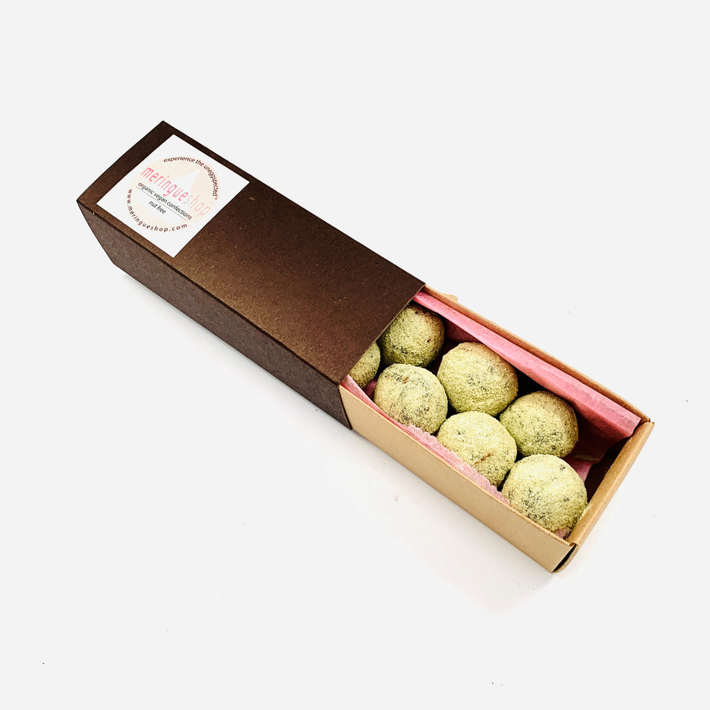 matcha truffle with coconut and maple