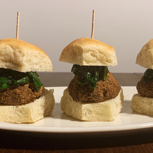 vegan lentil meatball sliders
