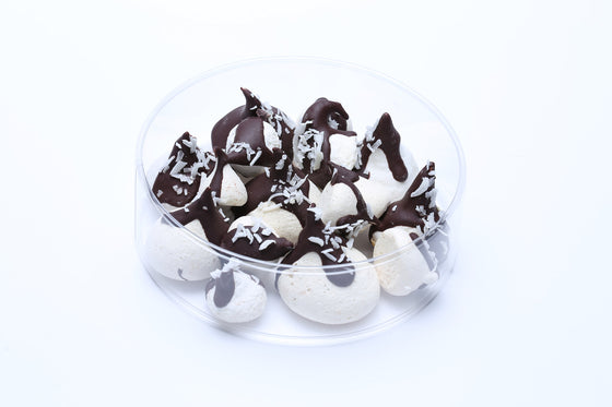 This vegan 'milk' chocolate, the mildest of the three chocolates, gives these meringues a slightly fruity taste.