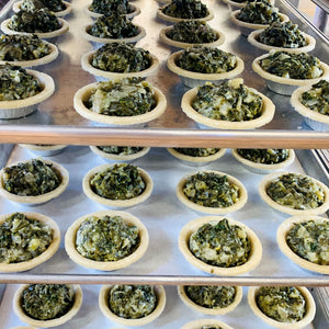 greens mini vegetable pot pie