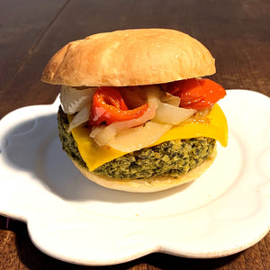 cauliflower and kale vegetable burger
