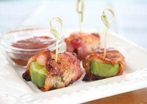bacon wrapped dill chunks