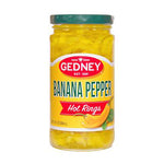 Gedney Banana Pepper Hot Rings - 12oz