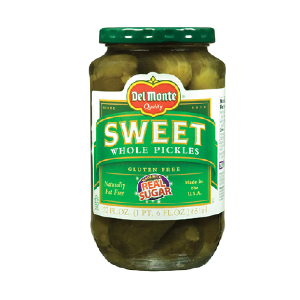 Del Monte Sweet Whole Pickles - 22oz