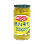 Gedney Mild Banana Pepper Rings - 12oz