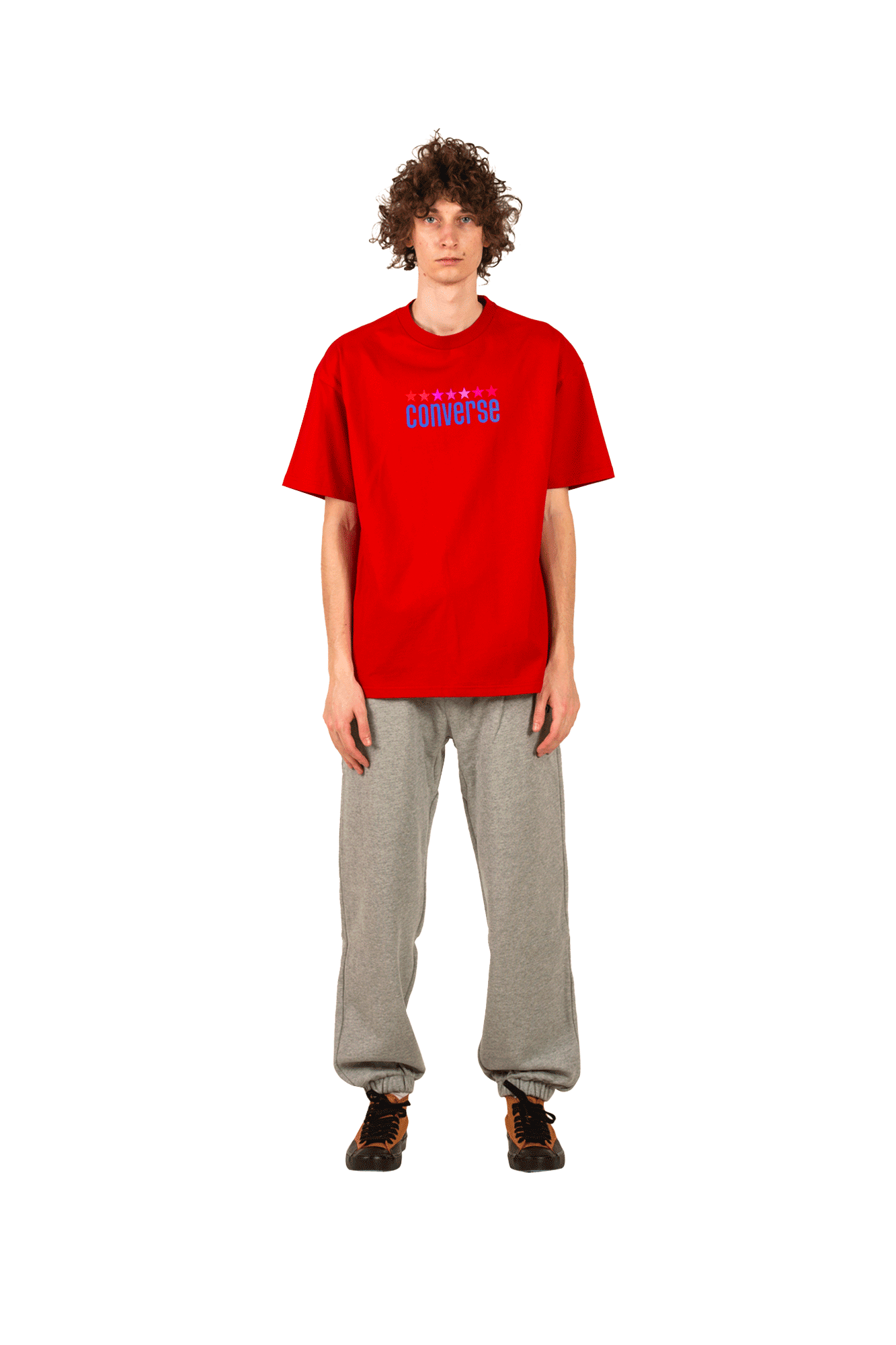 Converse T-Shirts VNTG WRDMRK Tee X ASAP NAST Red 10017743#A02#603#M - One Block Down