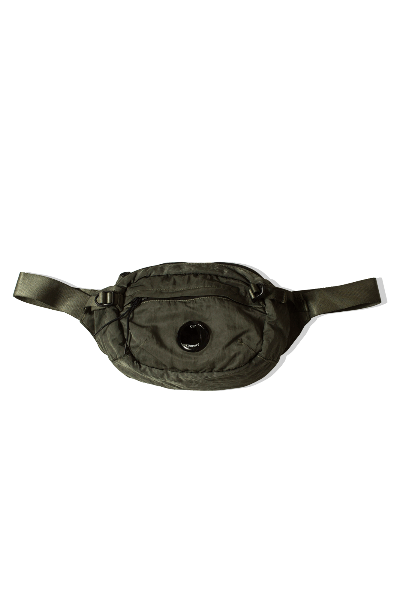 Nylon B GD Crossbody Lens Waist Bag Green