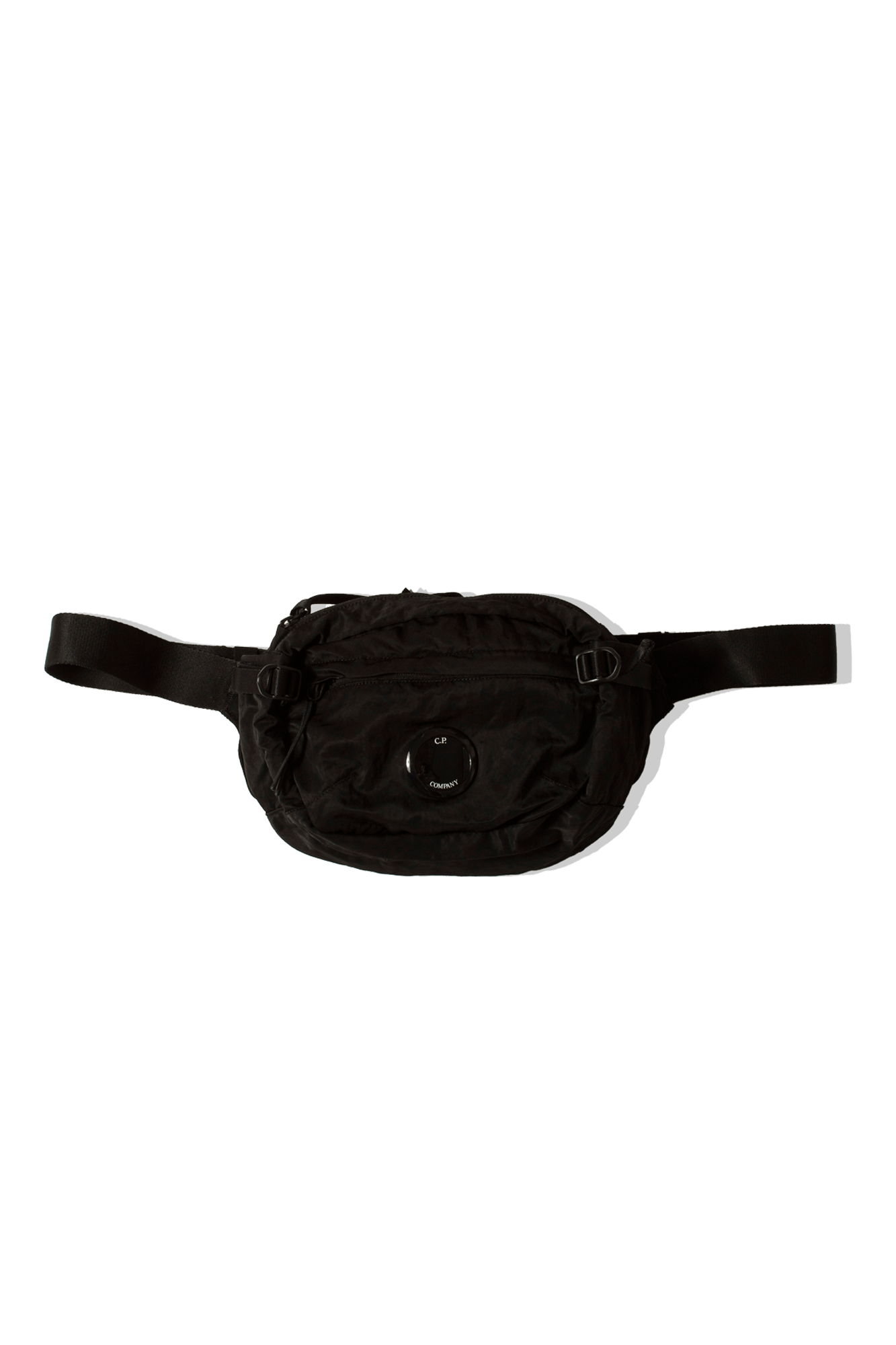 Nylon B GD Crossbody Lens Waist Bag Black