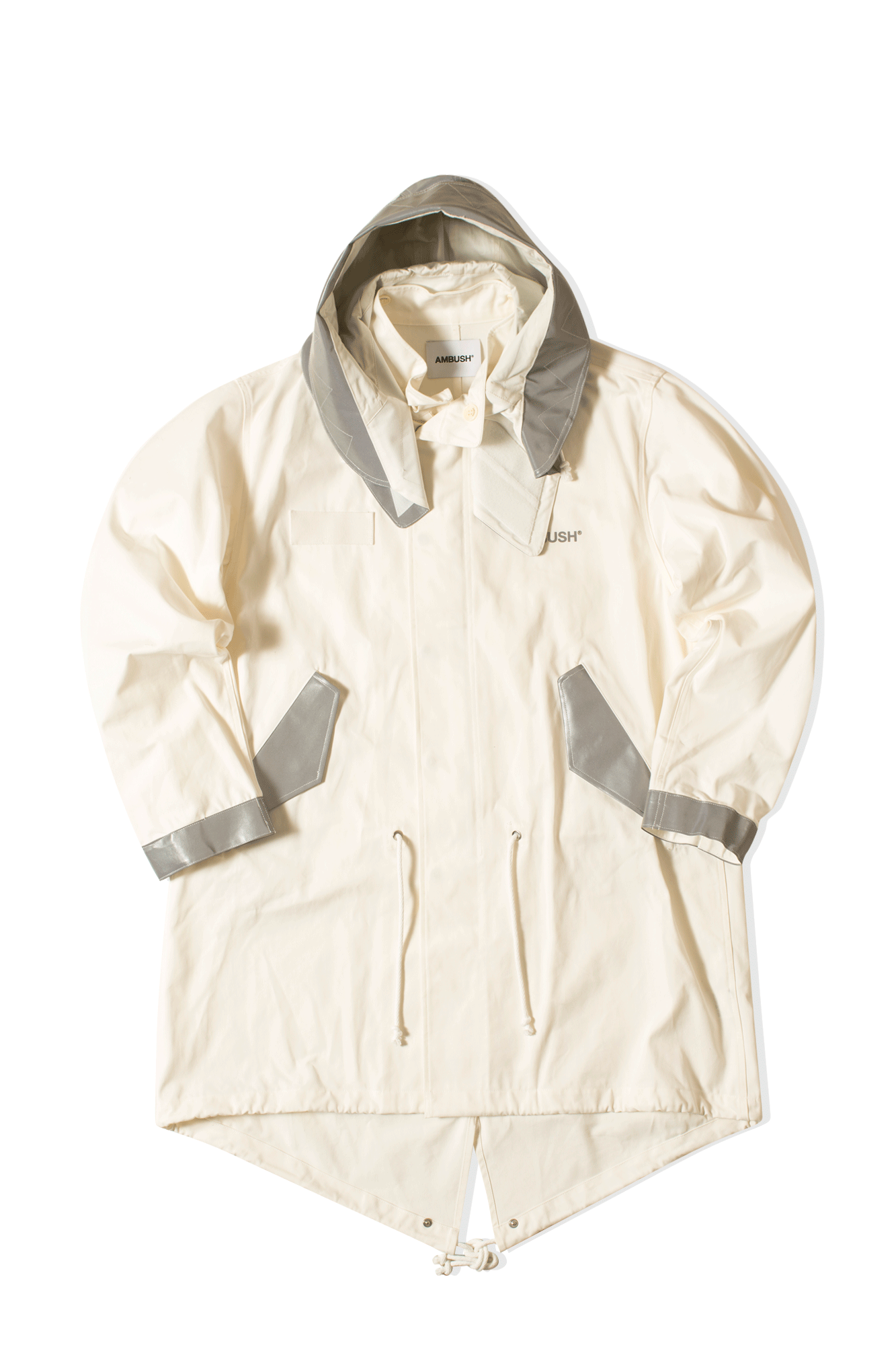 Ambush Trench coats Mod Coat White 12111792#000#WHT#1 - One Block Down