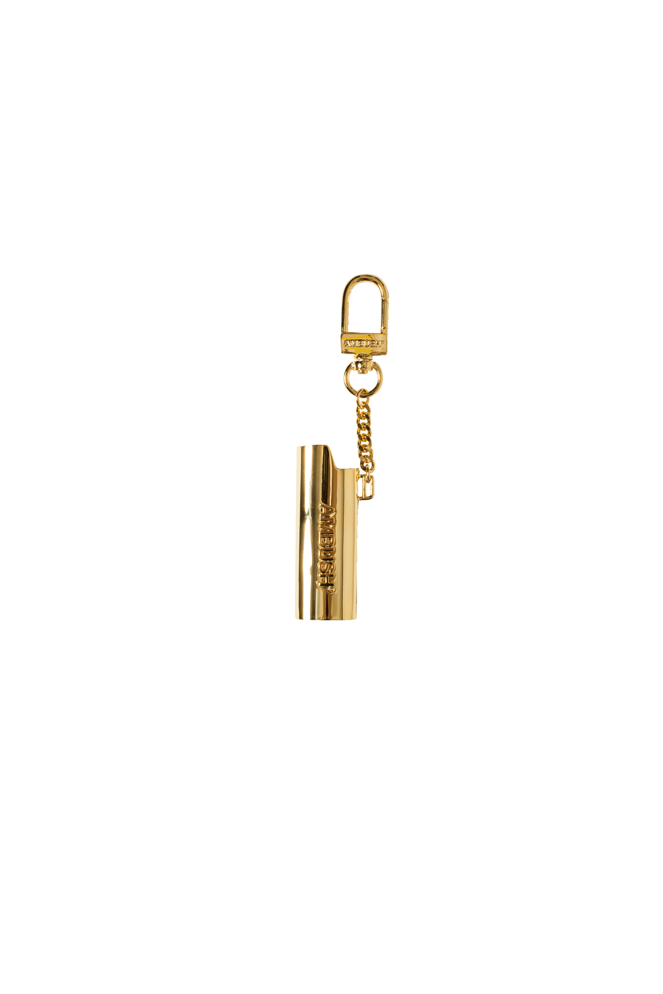 Logo Lighter Case Key Chain L Gold