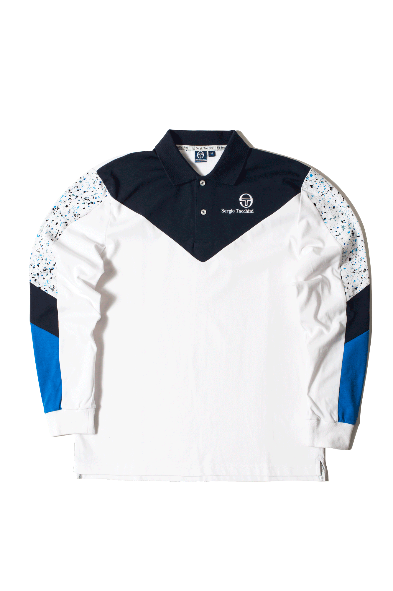 Sergio Tacchini Polo Shirt Copper Polo Terrazzo White 38030-116#000#WHITE#S - One Block Down