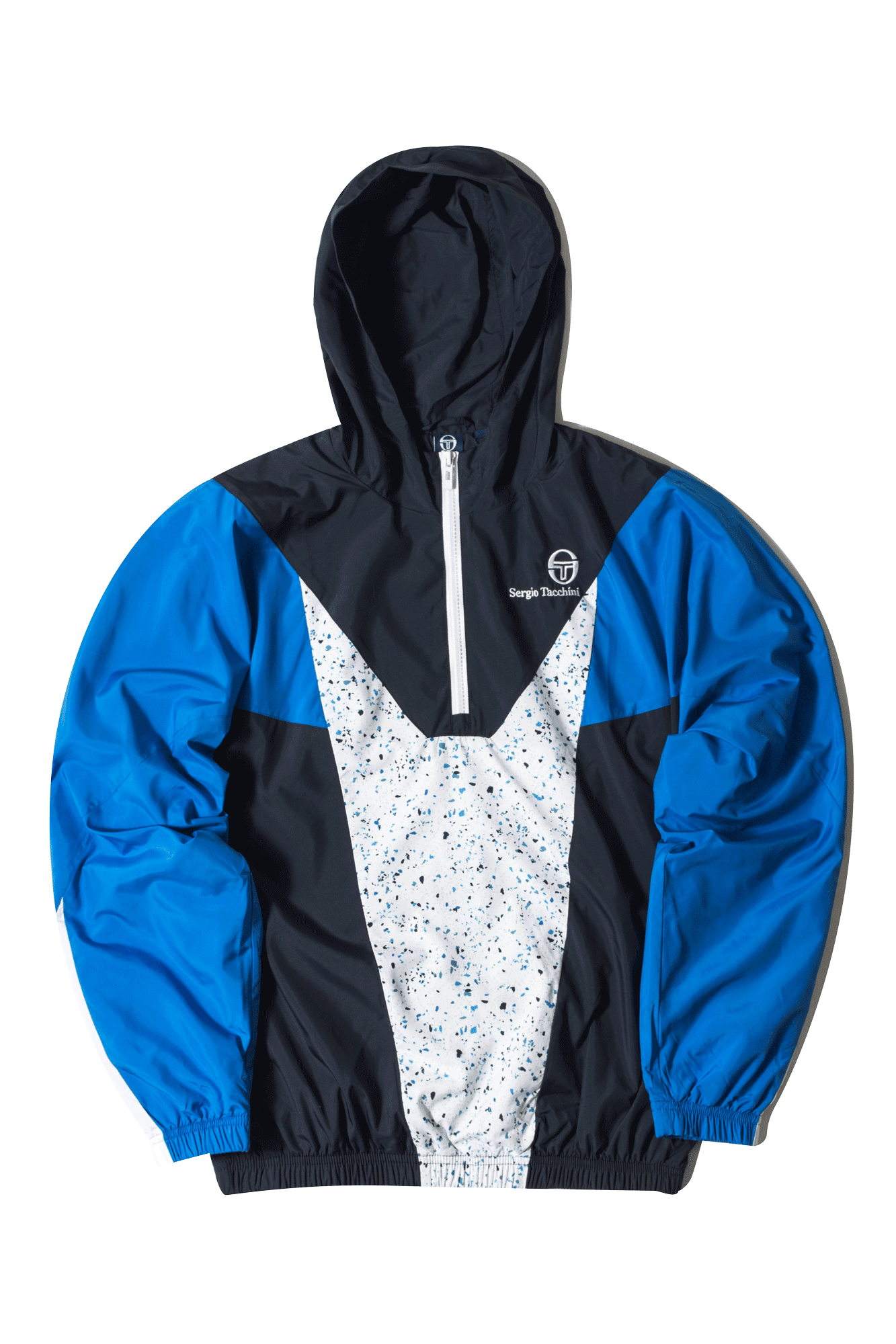 Sergio Tacchini Zip-up sweatshirt Coltan Tracktop H/Zip Terrazzo Blue 38031-216#000#BLU#S - One Block Down