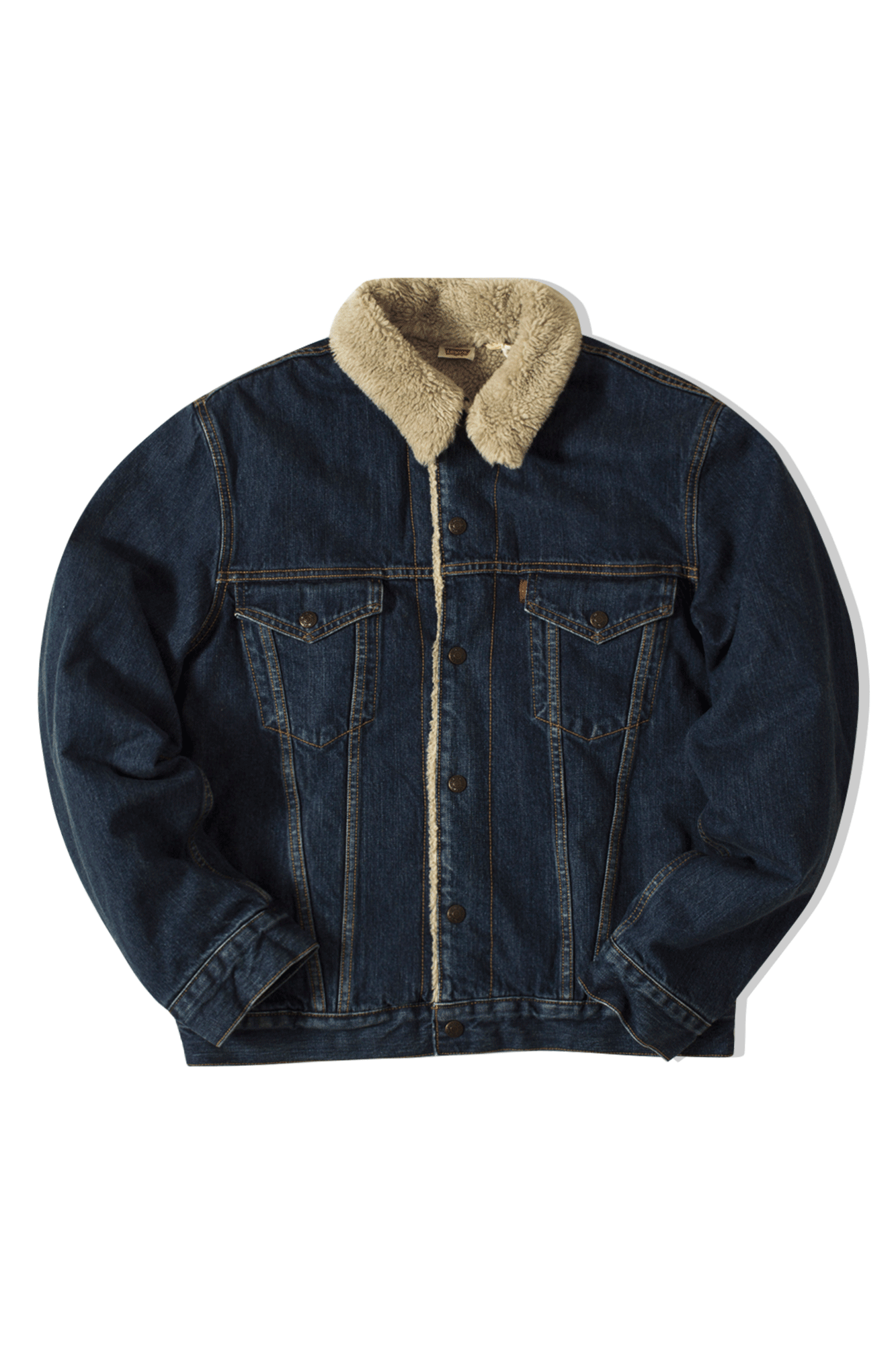 Levi's Coats & Jackets 1967 Type III Sherpa Wise Dub Blue 7258700060#000#C0007#M - One Block Down