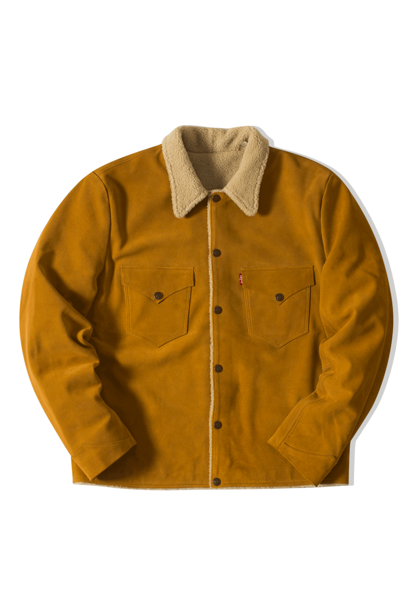 Levi's Coats & Jackets Suede Sherpa Trucker Golden Brown 7488300000#000#C0003#M - One Block Down