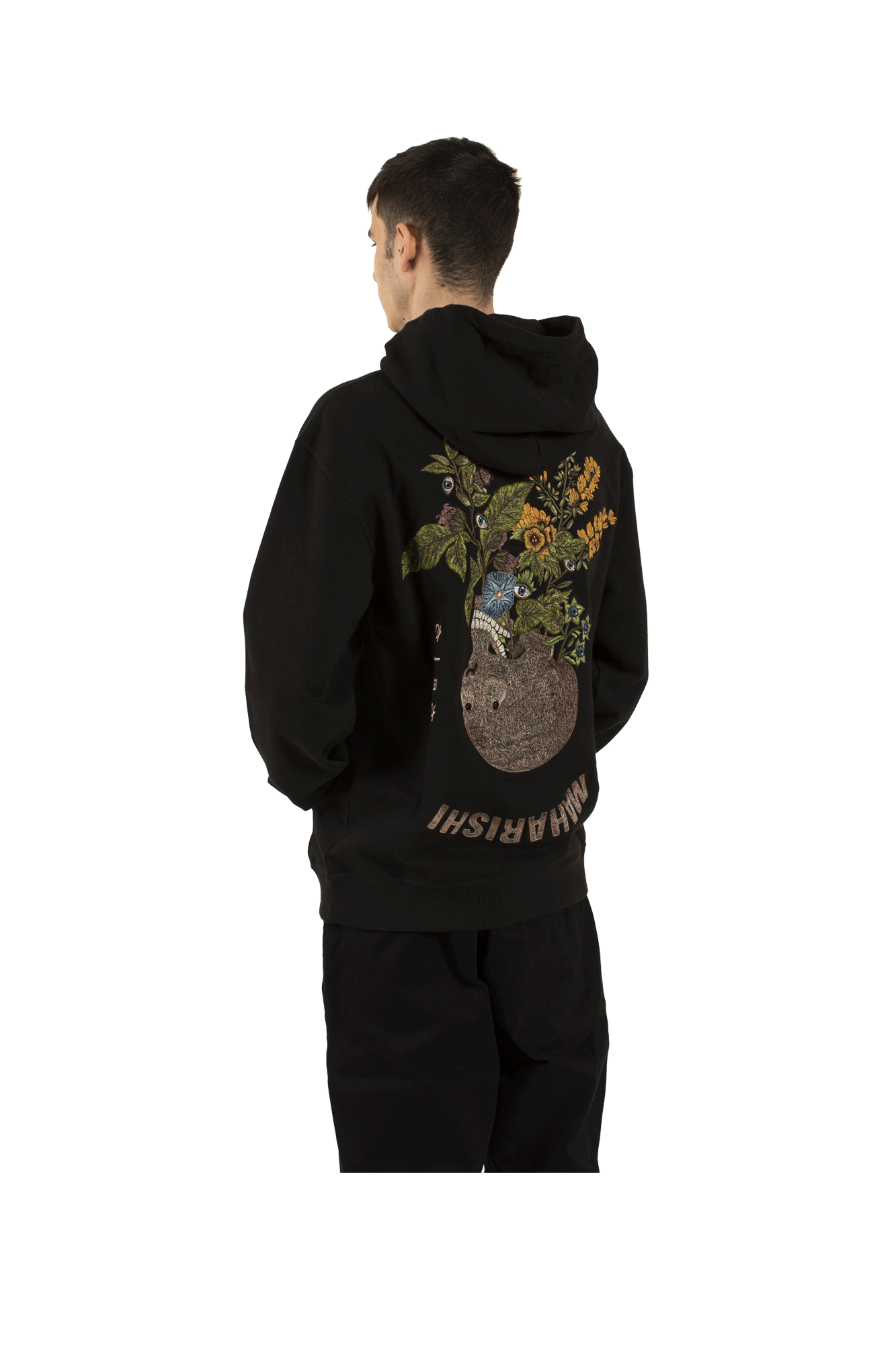 Pax Psychotria Hooded Sweat Black