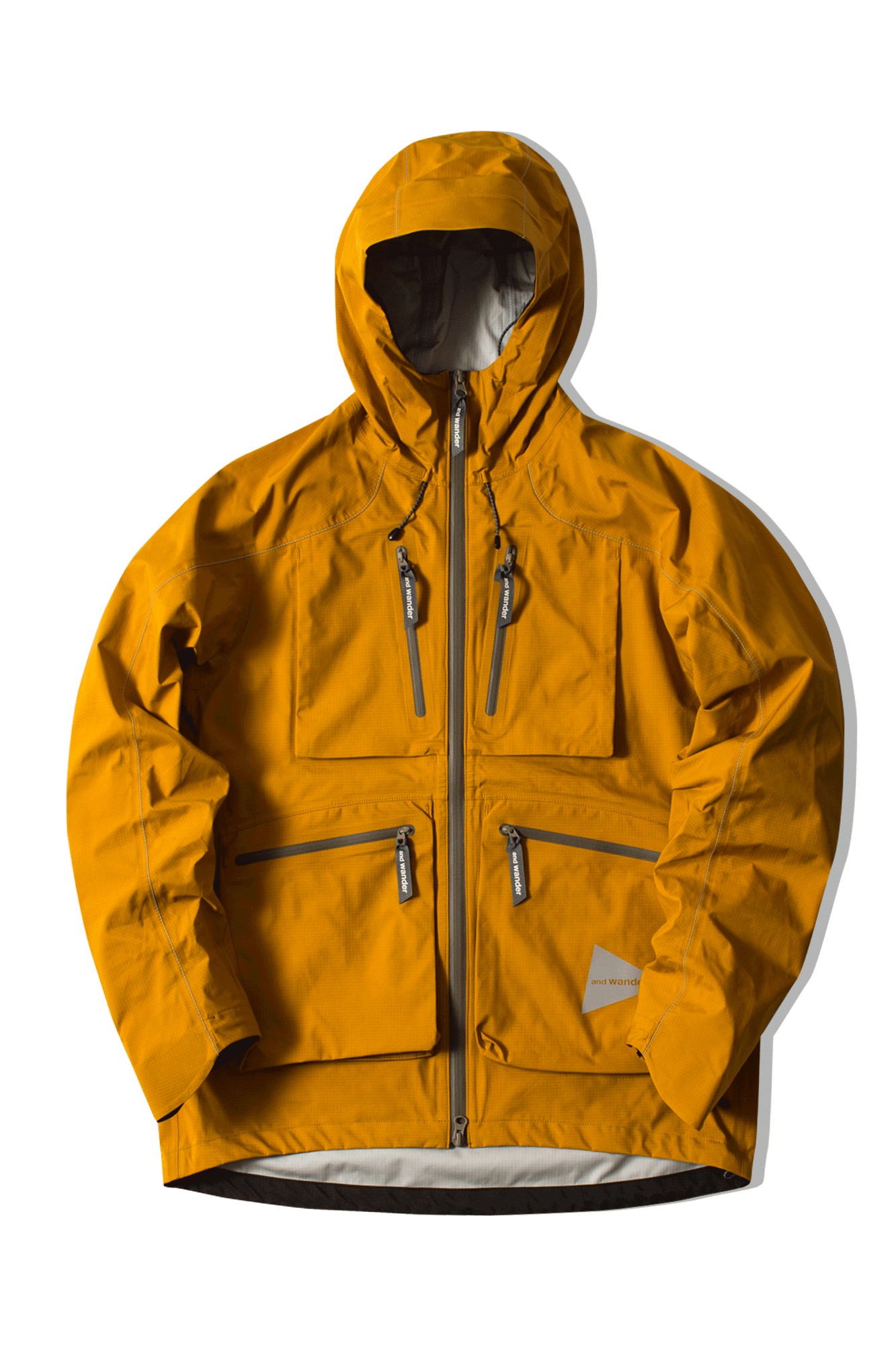 And Wander Coats & Jackets E Vent Pocket Rain Jkt Yellow AW91-FT001#000#YLW#0 - One Block Down
