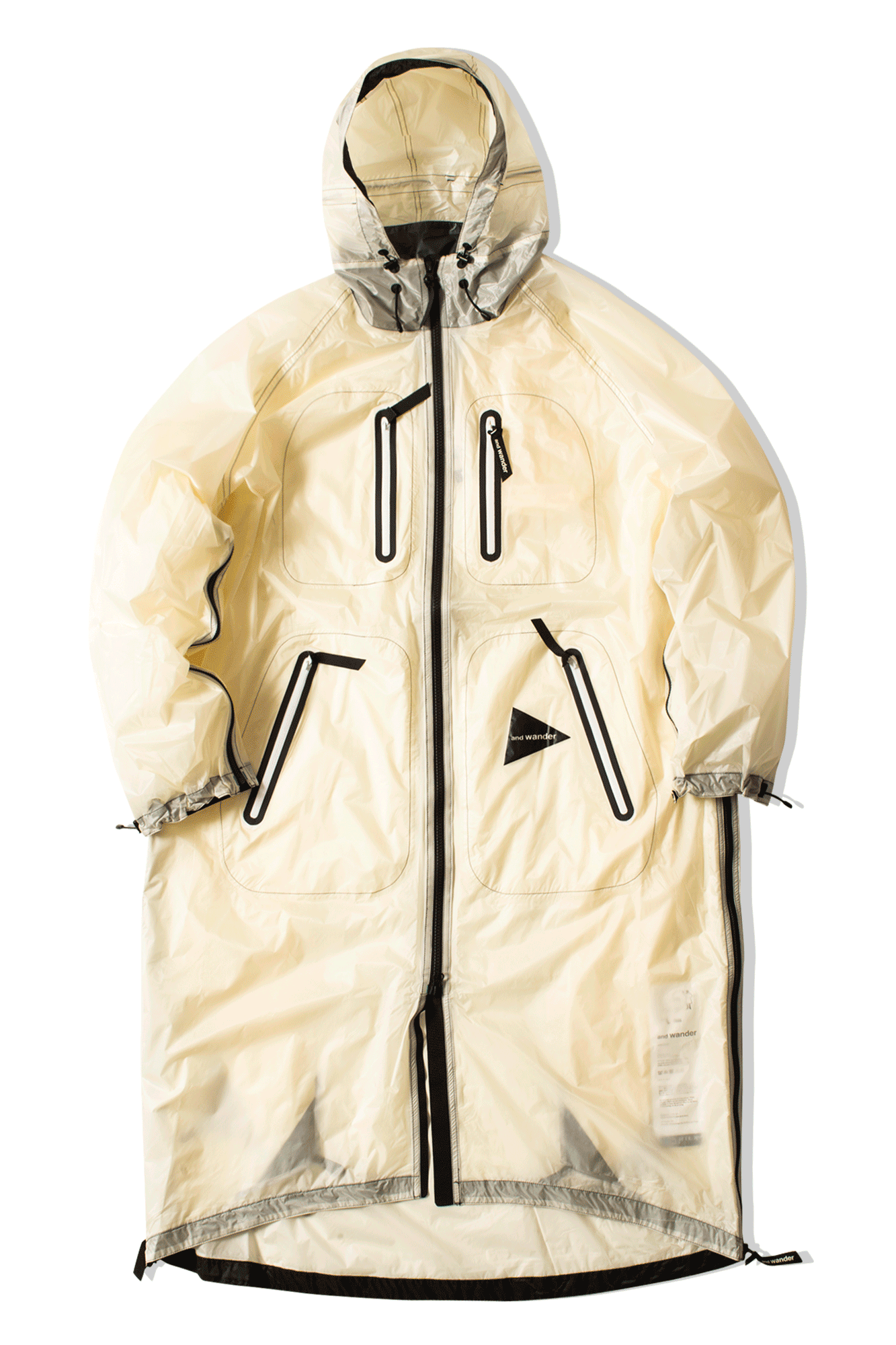 And Wander Coats & Jackets Fly Rain Coat White AW91-FT003#000#WHT#0 - One Block Down