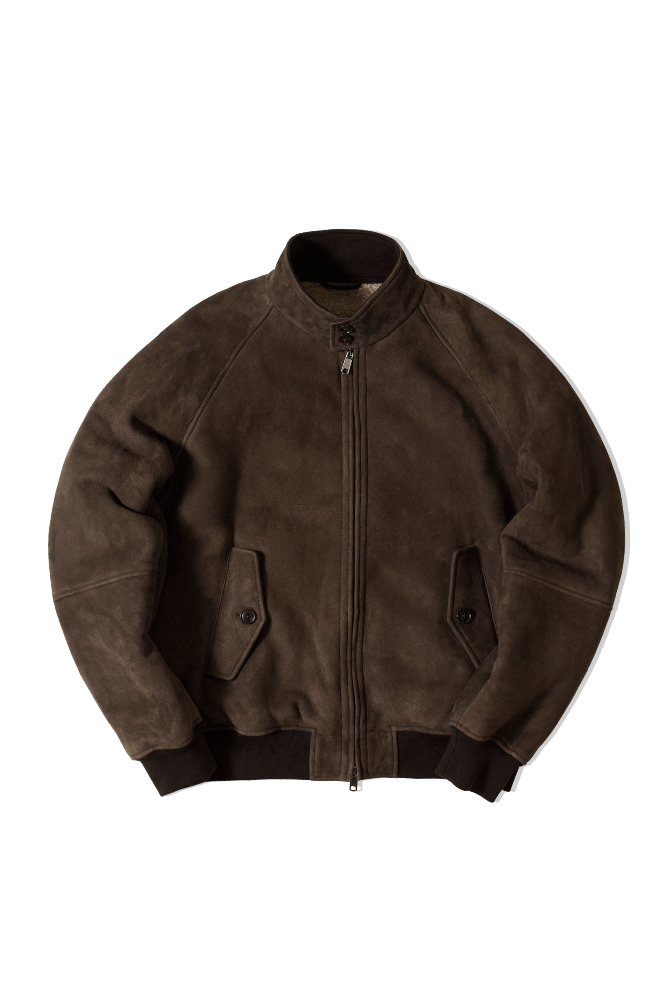 G9 Suede Shearling Jacket Brown