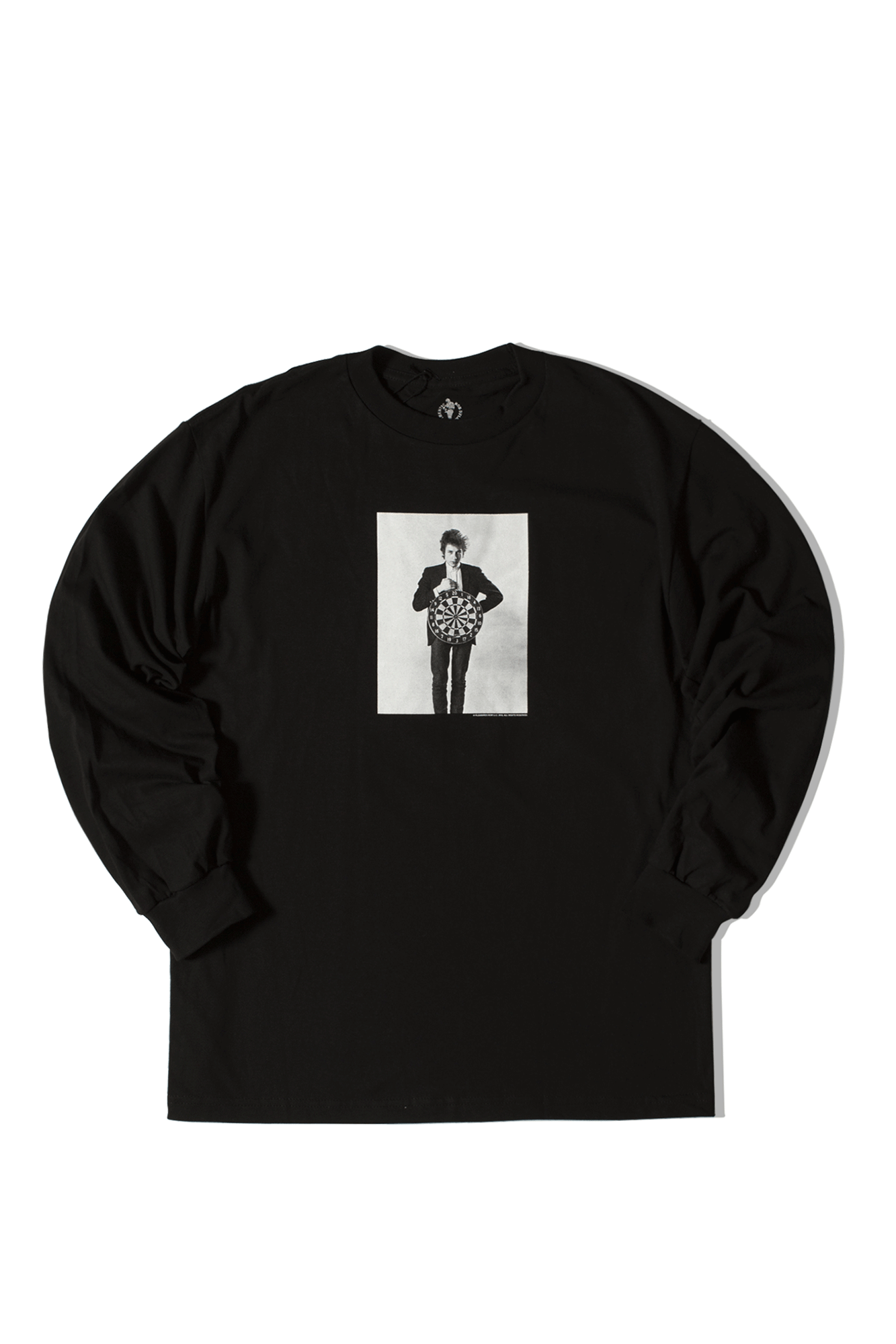 Bob Dylan Darts Long Sleeve T-Shirt Black