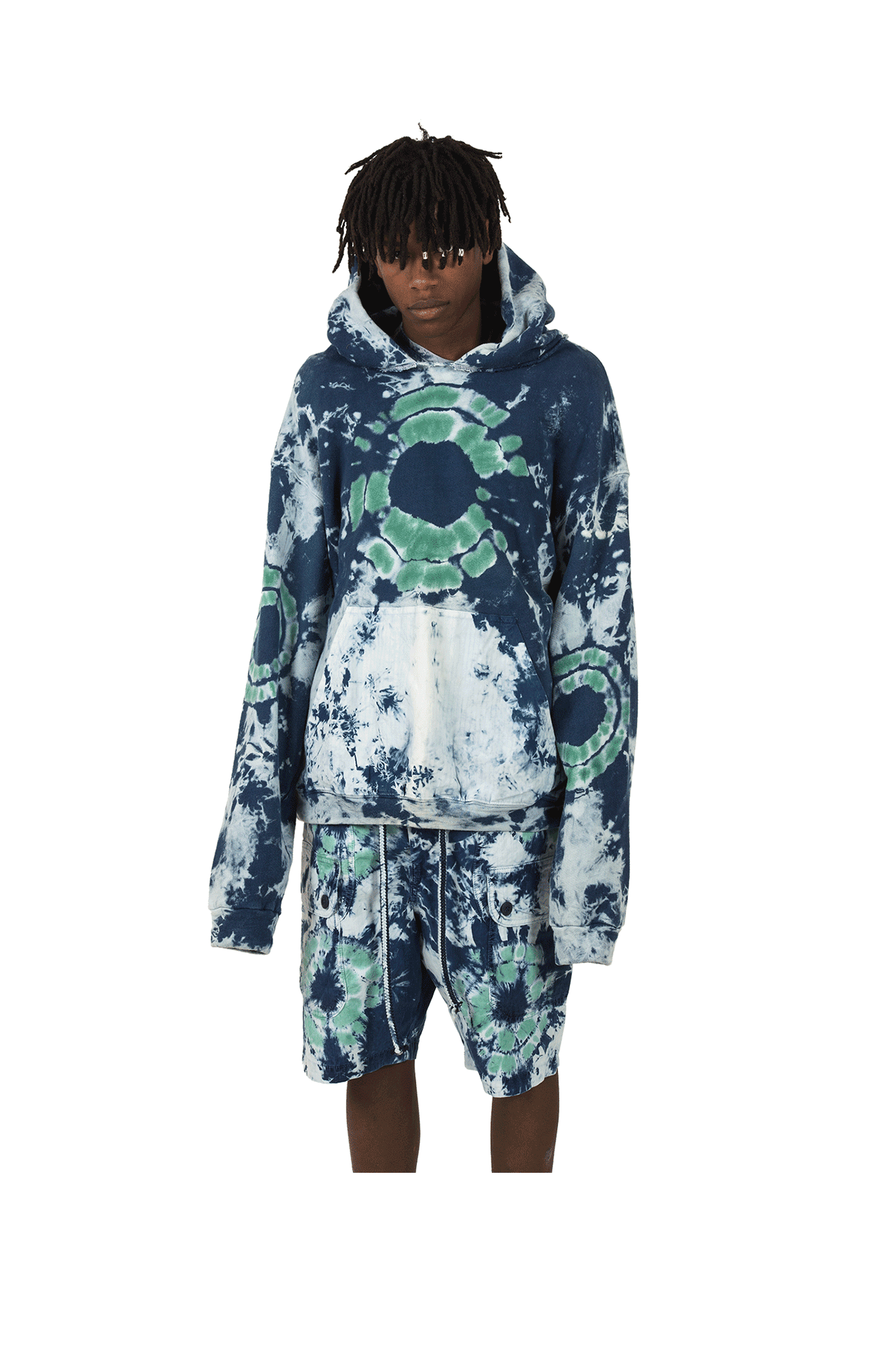 Dr. Collectors Sweaters Comfort Hoodie Shibori Blue COMFORT#HOODHIBORI#BLUE#S - One Block Down
