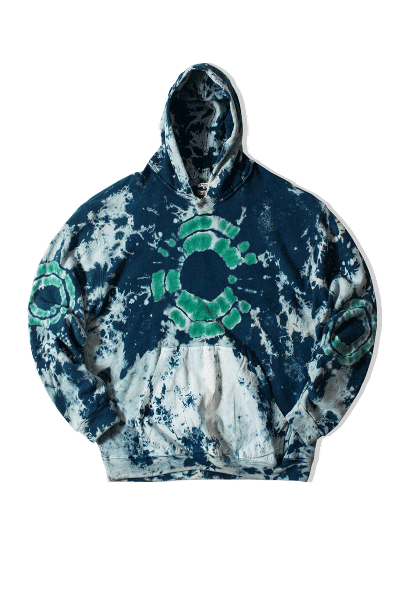 Dr. Collectors Hooded sweatshirts Comfort Hoodie Shibori Blue COMFORT#HOODHIBORI#BLUE#XS - One Block Down