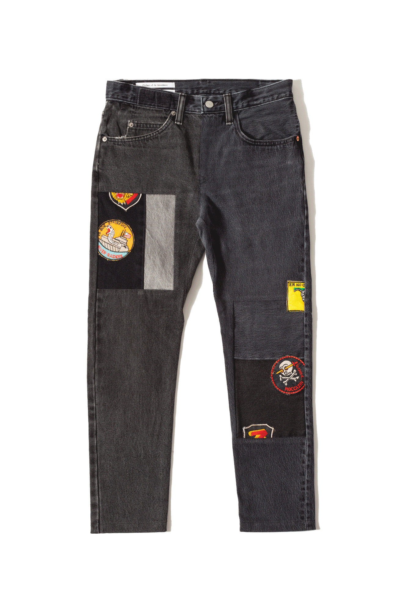 Children Of The Discordance Denim Pants Vintage Fabric Black COTDNY#PT301#BLACK#0 - One Block Down